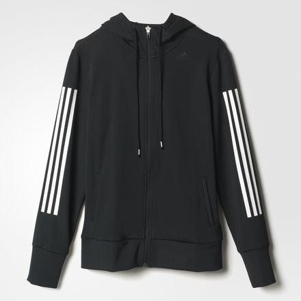 adidas donne con cappuccio giacca di allenamento Nero nero/bianco XXS