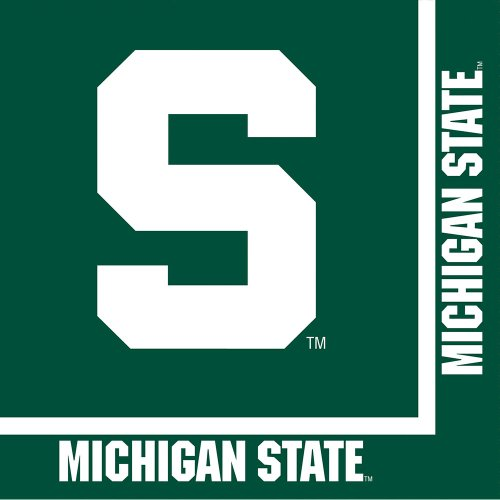 Creative Converting Michigan State Spartans Luncheon Napkins (20 Count)