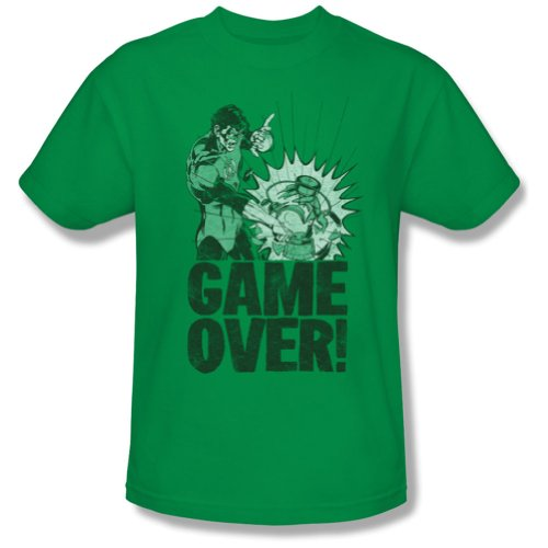 Green Lantern/Game Over - S/S Adult 18/1 - Kelly Green - Lg