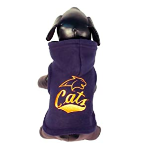 NCAA Montana State Bobcats Collegiate Cotton Lycra Hooded Dog Shirt (Team Color, X-Small)