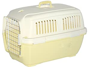 Marchioro Clipper Cayman 3 Pet Carrier, Small / Medium Pet, 25-inches, Tan/Soft  Yellow