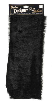 Luxury Fur - Black - 12 x 15 inches