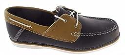 Timberland Mens 2 Eye Bluffton Black Brown Boat Shoe Size 9.5