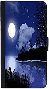 Snoogg Moon Night Designer Protective Phone Flip Back Case Cover For Lenovo Vibe K4 Note
