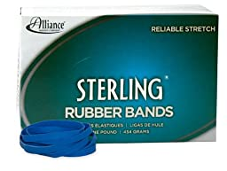 Alliance Sterling Rubber Band - Blue - Size #64 (3 1/2 x 1/4 Inches) - 1 Pound Box (Approximately 380 Bands per Pound) (44645)