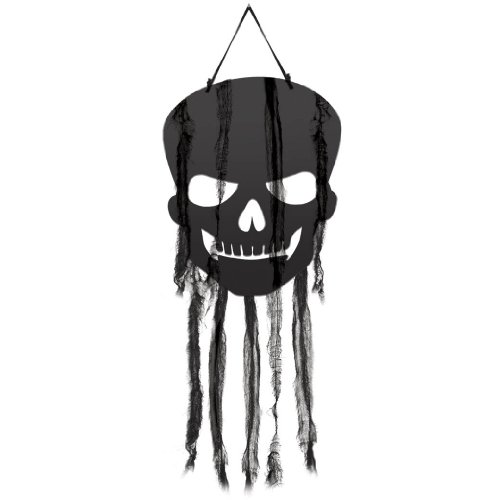 Hanging Skull Cutout Decorations 4pk - 1