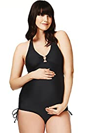 Maternity Halternneck Removable Cup Swimsuit