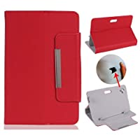 "Eforstore 7 Inch Universal Tablet Case Folio Faux Leather Stand Flip Cover for 7"" Android Tablet PC 16:9 (7 Inch, Red) from Eforstore"