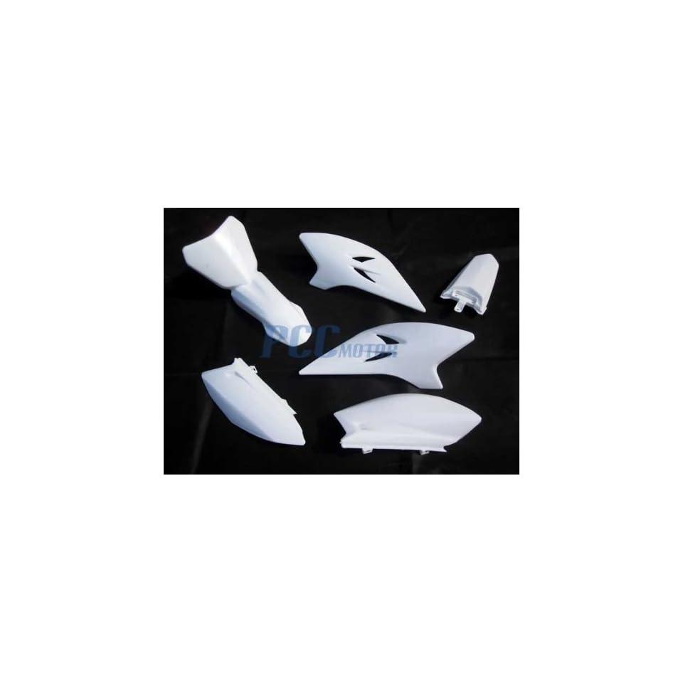 FOR YAMAHA TTR50 TTR 50 PLASTIC FENDERS KIT BODY FAIRING WHITE I PS59