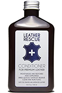 Leather Rescue Conditioner - Moisturizes, Restores, and Protects Leather - Natural, pH-Balanced, and Non-Toxic - Formulated for Car Seats, Motorcycle Gear, Furniture, Designer Handbags, Purses, Jackets, Boots, Shoes, and more - Satisfaction Guaranteed - 8