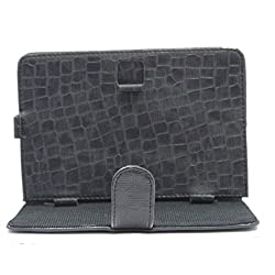 7&Seven G11 CROCK FLIP FLAP CASE COVER POUCH CARRY STAND FOR RELIANCE 3G TAB 7 DARK BLUE