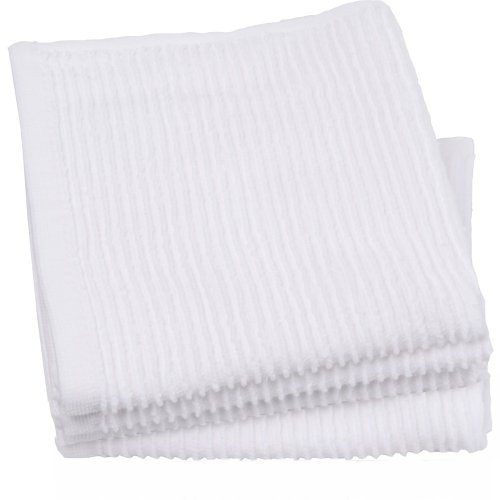 Now Designs Ripple Dishcloth Set of 4, White