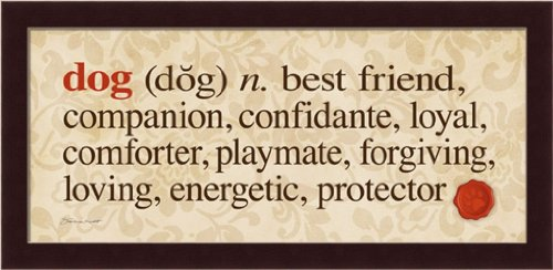 Dog: Best Friend Companion Confidante Loyal Comforter 19.5X9.5 Framed Art Print Picture front-970537