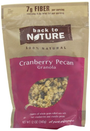 Back To Nature Cranberry Pecan Granola, 12-Ounce Pouches (Pack of 6)