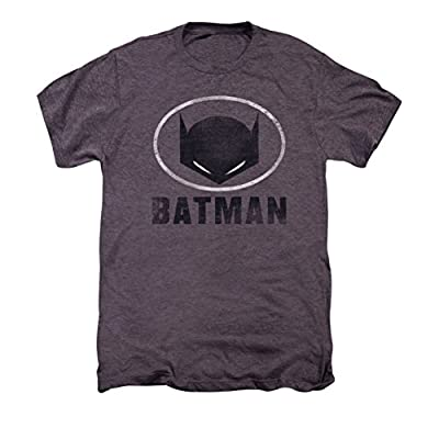DC Batman Mask In Oval Premium T-Shirt