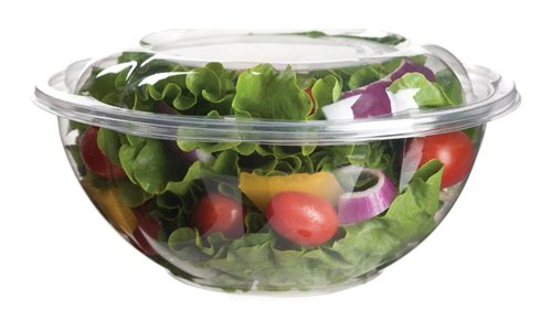 Eco-Products Ep-Sb24 Plant-Based Plastic Renewable And Compostable Salad Bowl With Lid, 24Oz Capacity (6 Packs Of 25)