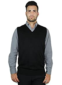 Blue Ocean Men's Ocean Solid V-Neck Sweater Vest