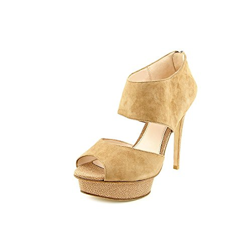 Pelle Moda Allie1 Womens Size 7 Tan Leather Platforms Heels Shoes