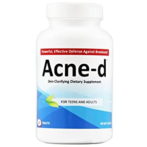 Acne-d Skin Clarifying Dietary Supplement Pills, 120 Tablets