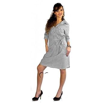 Tendance BYKA Robe Femme en tissu fin S Gris Bleu