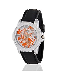 Yepme Mens Dottum Mens Watch - Orange/Black_YPMWATCH0745