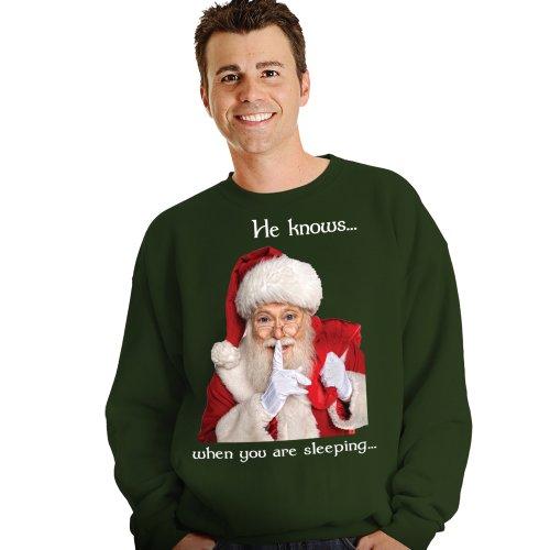 Morphsuits Digital Dudz Santa Ugly Christmas Sweatshirt, Green, Small