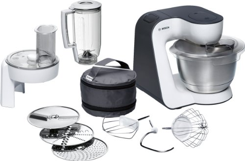 Bosch 3.9 Litre 700 Watt Styline Kitchen Machine, White/ Grey