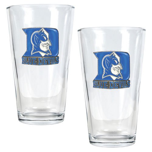 NCAA Duke Blue Devils Two Piece Pint Ale Glass Set at Amazon.com