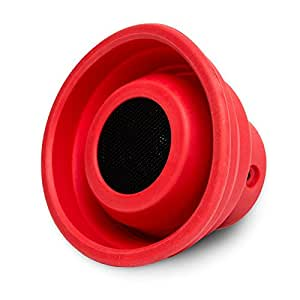Oblanc X-Horn Portable Bluetooth 2.0 Collapsible Speaker (Red)