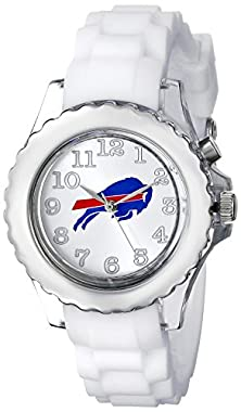 """buy Game Time Youth Nfl-Flw-Buf """"Flash White"""" Buffalo Bills Watch With White Silicone Band"""