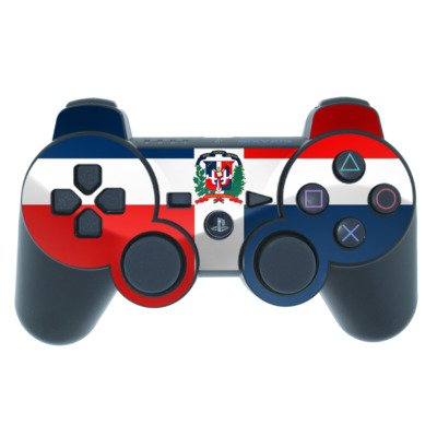 Dominican Republic Flag Design PS3 Playstation 3 Controller Protector Skin Decal Sticker