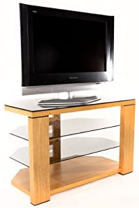 Optimum Natural Oak Edge 800 Open TV Stand