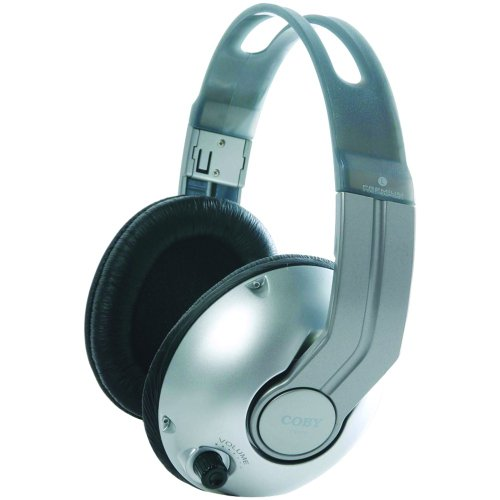Coby CV320 High-Performance Professional Studio Monitor Headphones (Silver)