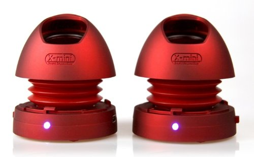 X-Mini Max Xam9-R Portable Capsule Speaker V1.1, Stereo, Red