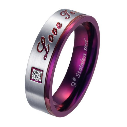 Brand New Titanium Stainless Steel Promise Ring