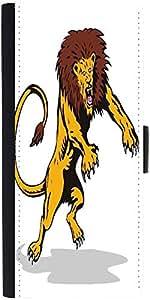 Snoogg Lion Big Cat Attacking Retro Designer Protective Flip Case Cover For S...