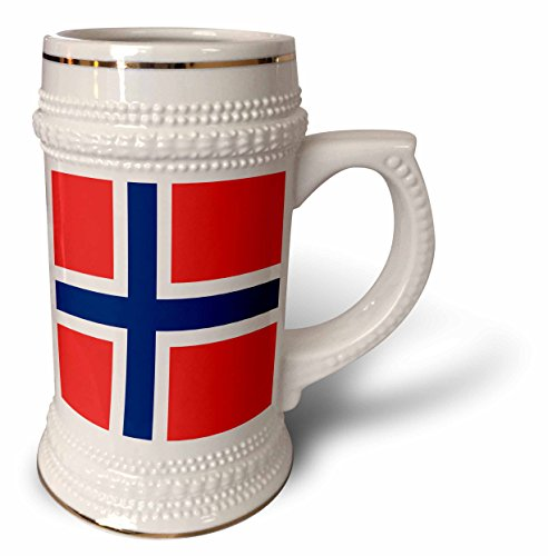 InspirationzStore Flags - Flag of Norway - Norwegian red blue white Scandinavian Nordic Cross - Scandinavia world country - 22oz Stein Mug (stn_158399_1) (Norwegian Beer compare prices)
