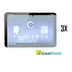 GreatShield Ultra Anti-Glare (Matte) Clear Screen Protector Film for Motorola XOOM Tablet (3 Pack)