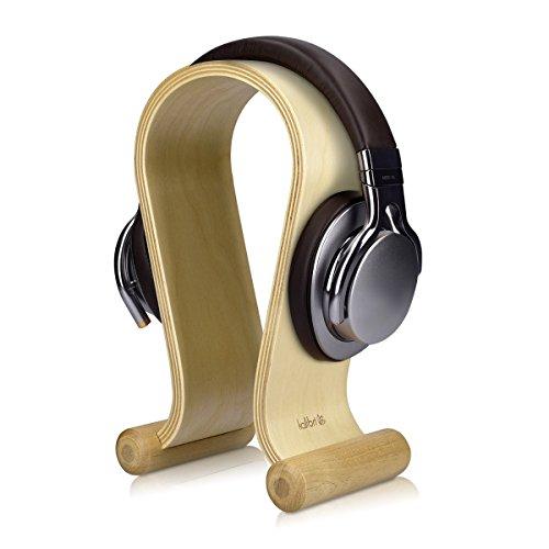 kalibri-Kopfhrer-Stnder-aus-Holz-fr-Kopfhrer-Universal-Headset-Halter-in-Birkenholz