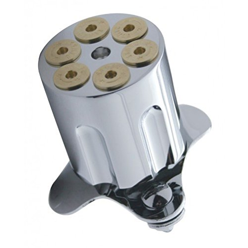 Chrome Metal Gun Barrel Steering Wheel Spinner Suicide Knob / Universal Bracket (Sure Grip Spinner Knob compare prices)