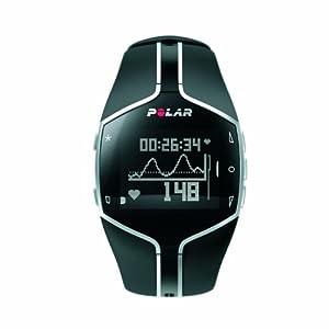 Polar FT80 - Reloj con pulsómetro y compatible con GPS, con Polar Flowlink incluido para fitness y cross-training (negro)