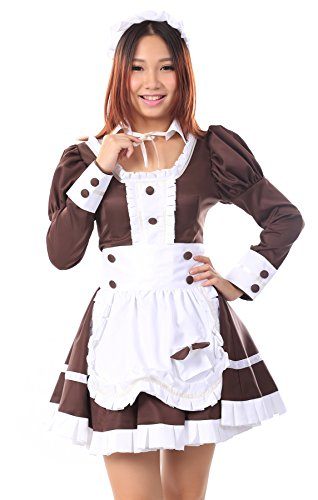 ICEMPs Maid Culture Cosplay Costume Maid Dress #04 Coffee's Whisper Set Kid L