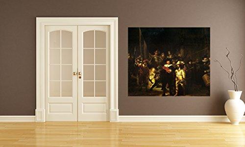 bilderdepot24-selbstklebende-fototapete-rembrandt-alte-meister-die-nachtwache-80x65-cm-direkt-vom-he