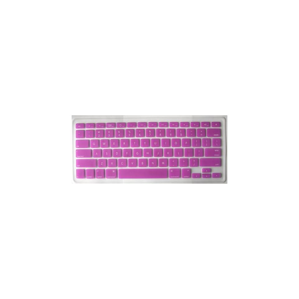 Koolshp DARKMAGENTA Keyboard Silicone Cover Skin for Macbook 13 Unibody / Macbook Pro 13 15 17