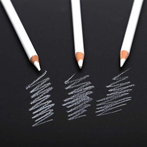 3 Pcs White Charcoal Pencils, Art Drawing Pencils Set - Medium, Sketching Pencils for Dark or Tinted Paper [+Peso($45.00 c/100gr)] (US.AZ.7.99-0-B07JMMSM4N.2473)