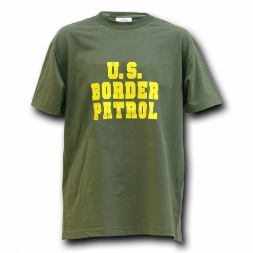 Green & Yellow United States Us Border Patrol T-Shirt Shirt Size Xl