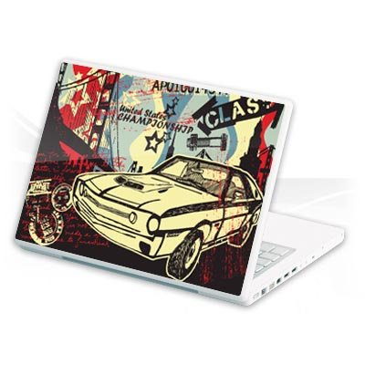Design Skins f&#252;r Belinea o.book 4, 12&quot; - Classic Muscle Car Design Folie [PC]