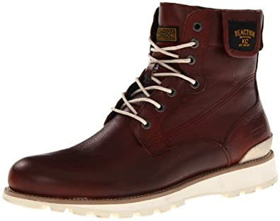 Kenneth Cole REACTION Men's Wedge Theory Lace-Up Boot,Red,11 M US