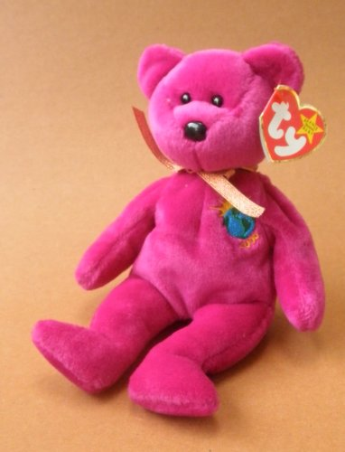 Year 2000 Bear Plush Toy Stuffed Animal
