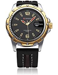Curren 8104G Luxury Black Dial Analog Watch - For Men